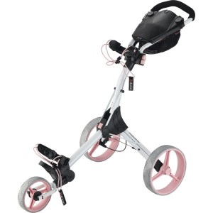BIG MAX Golftrolley IQ+ weiss/pink