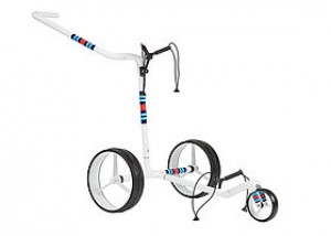JuCad Carbon 3 Rad Racing White Golftrolley