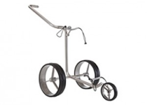 JuCad Junior 3 Rad Edelstahl Golftrolley