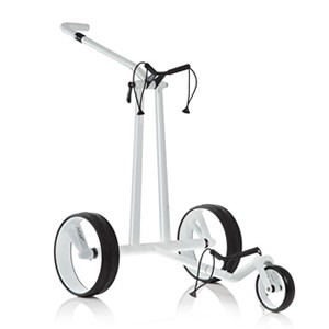 Jucad Carbon Phantom White manuell Golftrolley
