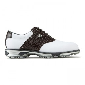 Footjoy DryJoys Tour, weiß/ brown croc Golfschuh Herren